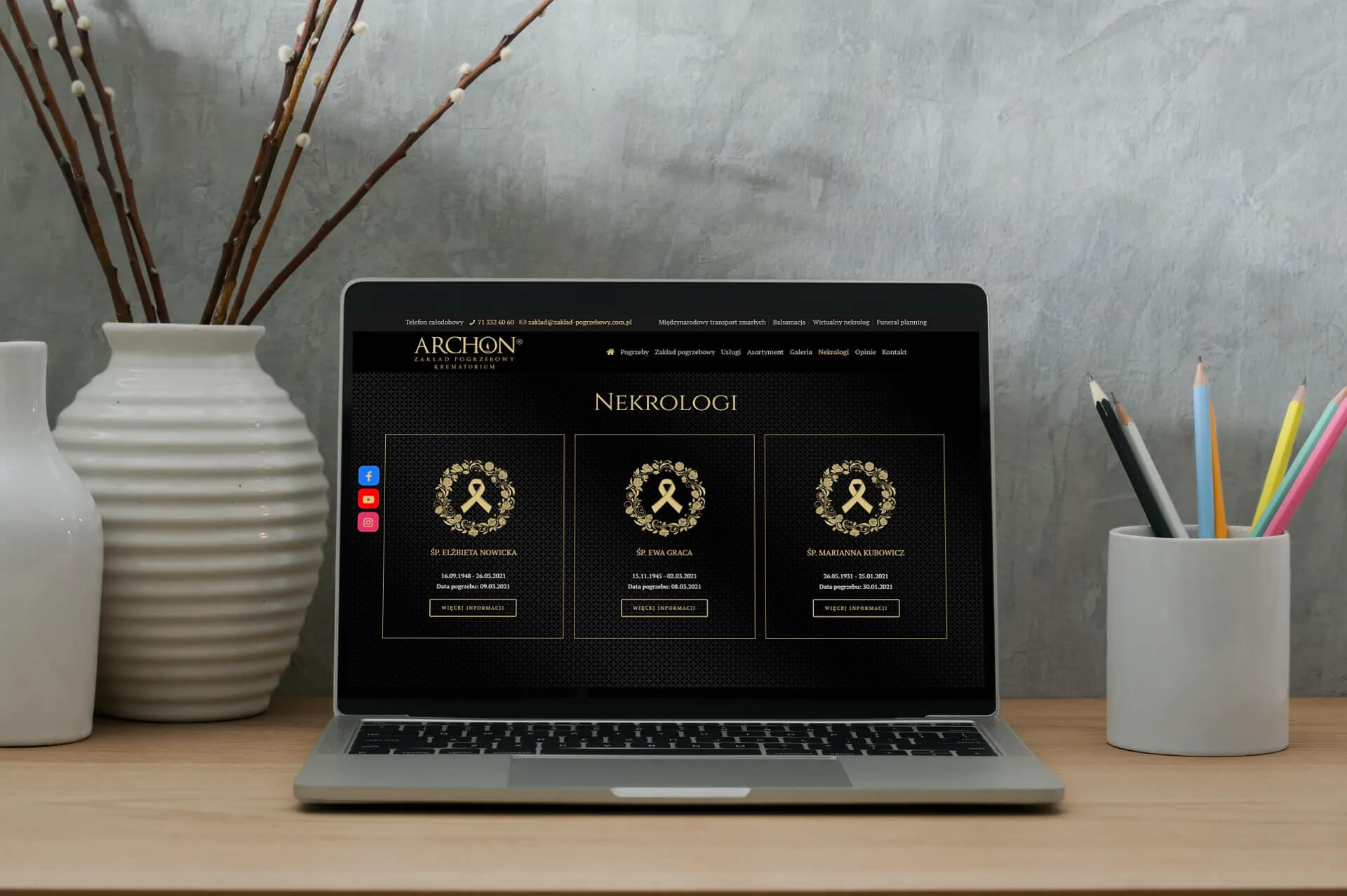 E-nekrologi na stronie Archon