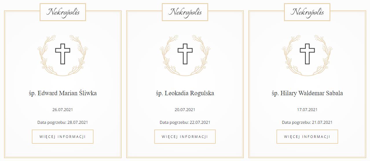 E-nekrologi: Przykładowa realizacja